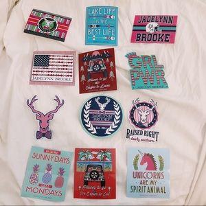 🦋3 for $30 Jadelynn Brooke Sticker Bundle